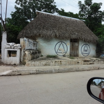 Palapa Roofed House used for Alcoholics Anonymous - Ticul
