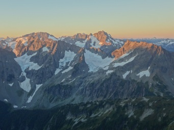 Cascade Mountains from Sahale Glacier