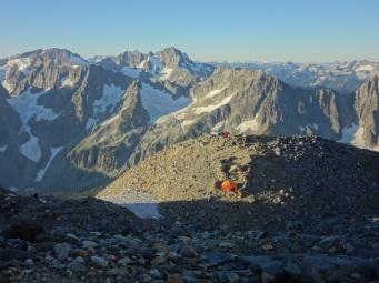 Cascade Mountains from Sahale Glacier