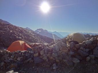 Camp at Sahale Glacier