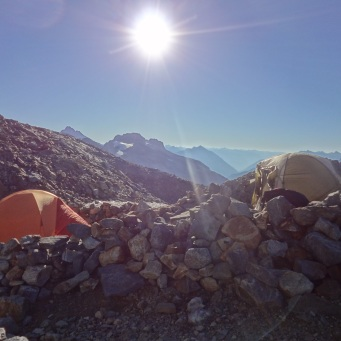 Camp at Sahale Glacier