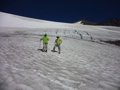 Crossing Sahale Glacier