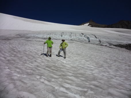 Crossing Sahale Glacier