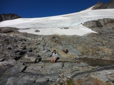 Cooling Off at Sahale Glacier