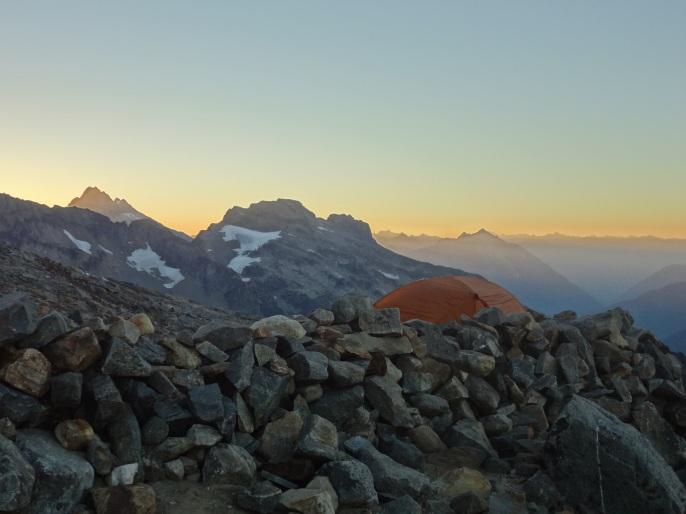 Sunrise at Sahale Glacier