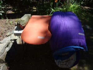 Sleeping Bag, Sleeping Pad and Tent
