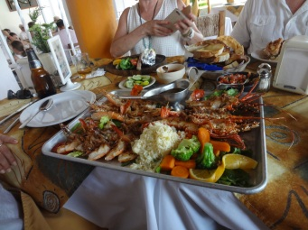 Seafood platter cooked
